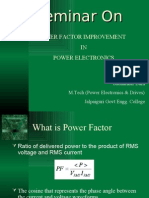 Seminar on Power Factor Improvement on Power Electronics