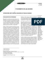 Dx Clinico y Ecográfico de Las Lesiones Musculares