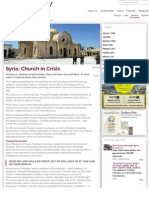 "Syria – Church in Crisis (""Christianity"" magazine UK April 2014)"