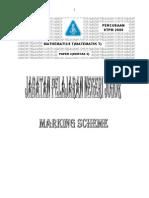 Maths t Paper 2 2009 Johor - Marking Scheme