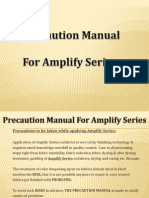 Precaution Manual for Colour Blooming auxiliaries applications on textiles.