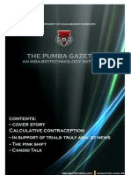 The PUMBA Gazette (March Edition)