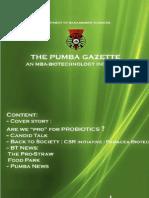 The PUMBA Gazette June Edition