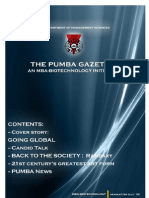 The PUMBA Gazette (July Edition)