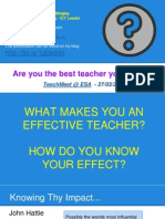 Are You the Best Teacher You Can Be?