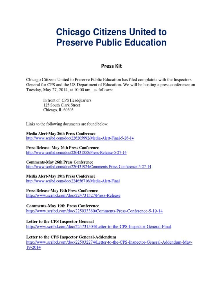 Press Kit-5-27-14 | Chicago | Public Sphere