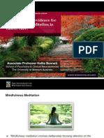 Kellie Bennett - Mindulness Meditation in Cancer Care