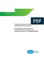 Evaluating and Improving Internal Control in Organizations - Updated 7.23.12
