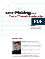 Mark Levy - List-Making as a Tool of Thought Leadership