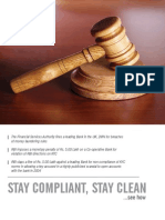 STAY COMPLIANT, STAY CLEAN