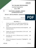 6.Elective Public Administration-3 June 2009