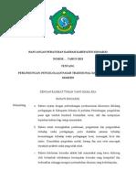 Rancangan Peraturan Daerah Kabupaten Sidoarjo