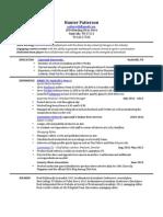 Hunter Patterson's Resume
