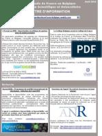 Lettre d'information sciences et université (avril 2014)