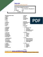 Latihan Tpa Snmptn 2012 Kode01