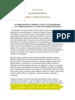 Ecclesia - Dignitatis Humanae - Español