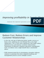 Improving Profitability in Supply Chain