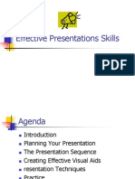 Presentation on Effective Presentations Skills
