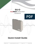 RedMAX SU-O Quick Install