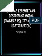 Eka 1202 Slide Ekuitas Kepemilikan Distribusi Modal Owners Equity - Capital Distribution