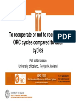 To Recuperate or Not to Recuperate ORC Cycles Compare to Ideal Cycles