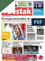 capa de jornal barbara castanheira n8