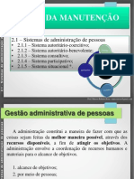 Gestão Da Manutenção_aula 2.1_Sistemas de Administração de Pessoas