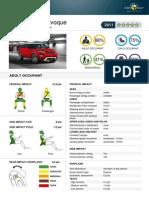 Range Rover Evoque EuroNCAP