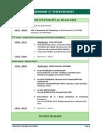 Programme Séminaire ICH 2014