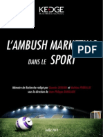 L'Impact de L'Ambush Marketing sur l'Evènementiel Sportif