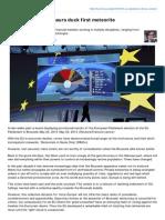 EU Elections - DINOsaurs Duck First Meteorite