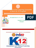 Assessment of Learning Outcomes (K to 12)