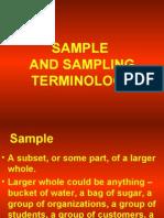 Sample and Sampling Terminology