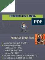 EPIDEMIOLOGI LANSIA