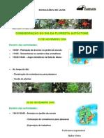 Horário de actividades - Dia Floresta Autóctone