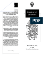 Romulus Memorial Day Observance Program 5-26-14