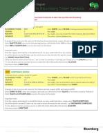 Bloomberg Cheat Sheet - English