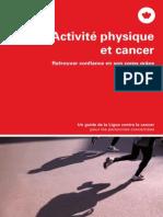activite physique et cancer