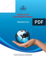 Kerala State Civil Service academy Prospectus