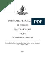 Formulario y Explicaciones de Derecho Practica Forense Tomo i