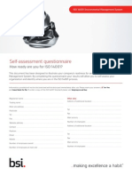 BSI ISO14001 Assessment Checklist UK En
