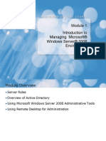 Module 01_Introduction to Managing Microsoft Windows Server 2008 Environment