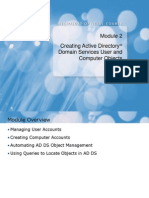 Module 02_Creating Active Directory Domain Services User and Computer Objects