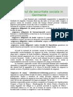 Sistemul de Securitate Sociala in Germania