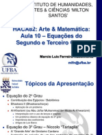 IHAC UFBa AM Aula10 EquacaoSegundoTerceiroGrauFinal