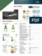 Mercedes C-Class Coupe EuroNCAP