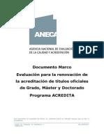 Modelo Marco Para La Acreditación, España