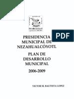 Plan de Desarrollo Municipal 2006 2009