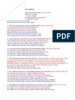 Correction of Ambiguous Sentences -- By Feli