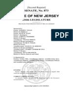 New Jersey Senate Bill 873